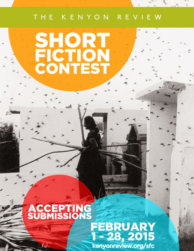 Kenyon Review 2015 short fiction prize call for submissions