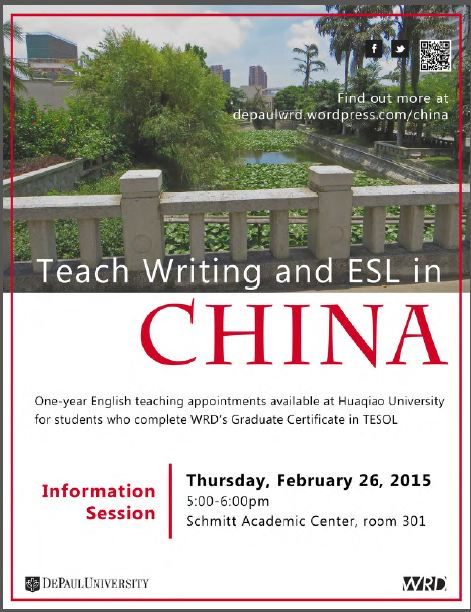 TESOL certificate info session Feb 26