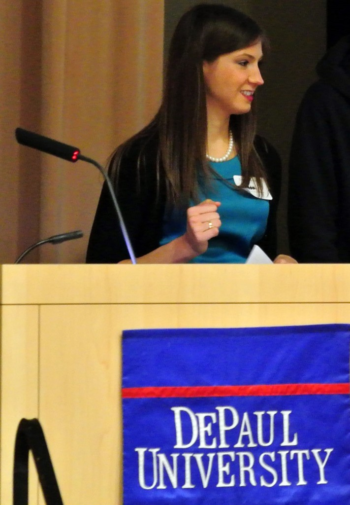 Carolyn at the Peer Tutor and Mentor Summit in 2014.
