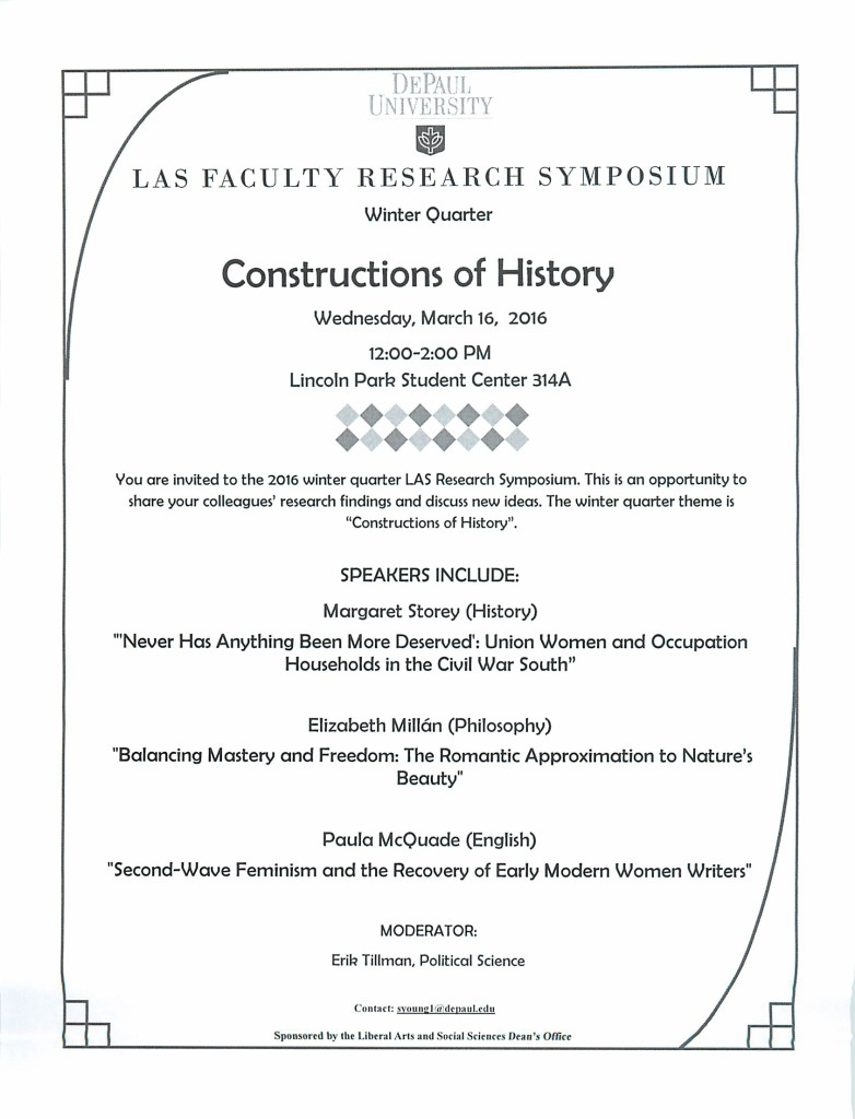 LAS Winter 2016 Faculty Research Symposium